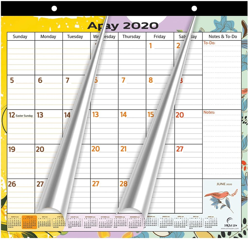 magnetic calendar nature-themed