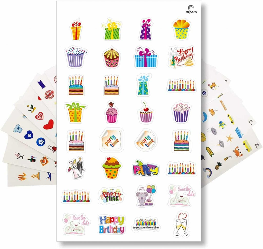 buy the set of sixteen cute stickers pack for planner