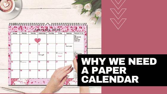 using paper calendar