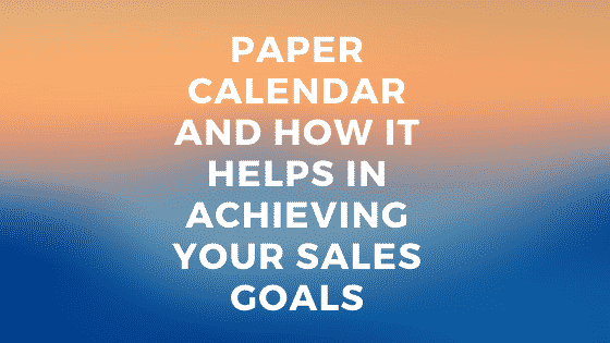achieving sales goals