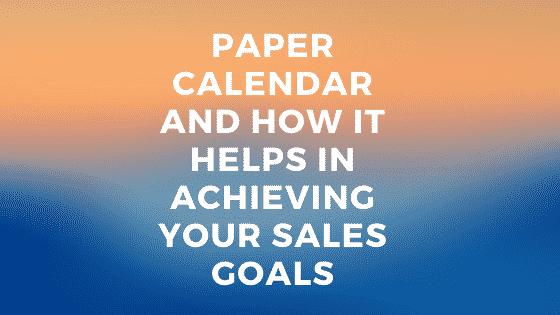 achieving sales goals