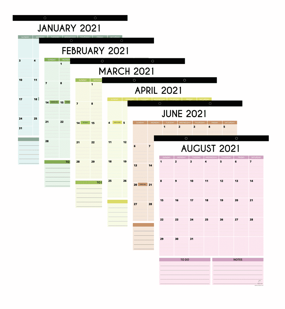 magnetic fridge calendar 2021 vertical