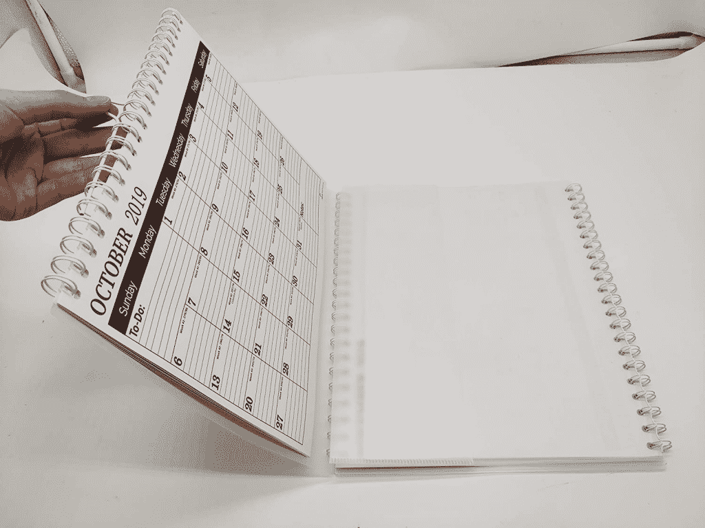 the 3 month wall calendar folded and bring it anywhere