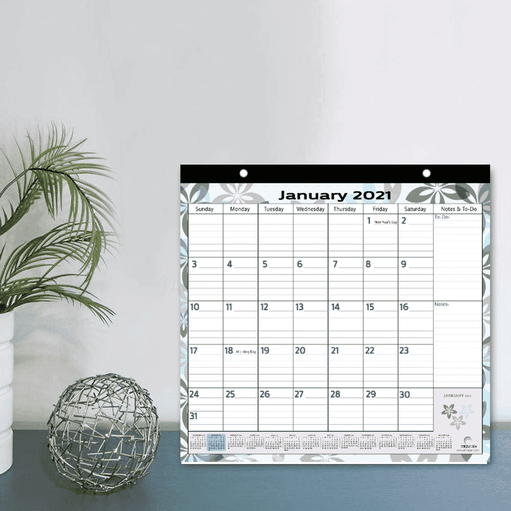 2021 to 2022 nature themed magnetic calendar as wall calendar