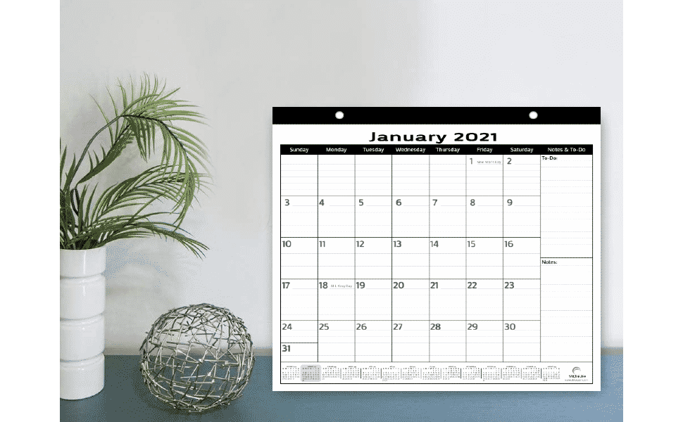 minimalist magnetic calendar 2021