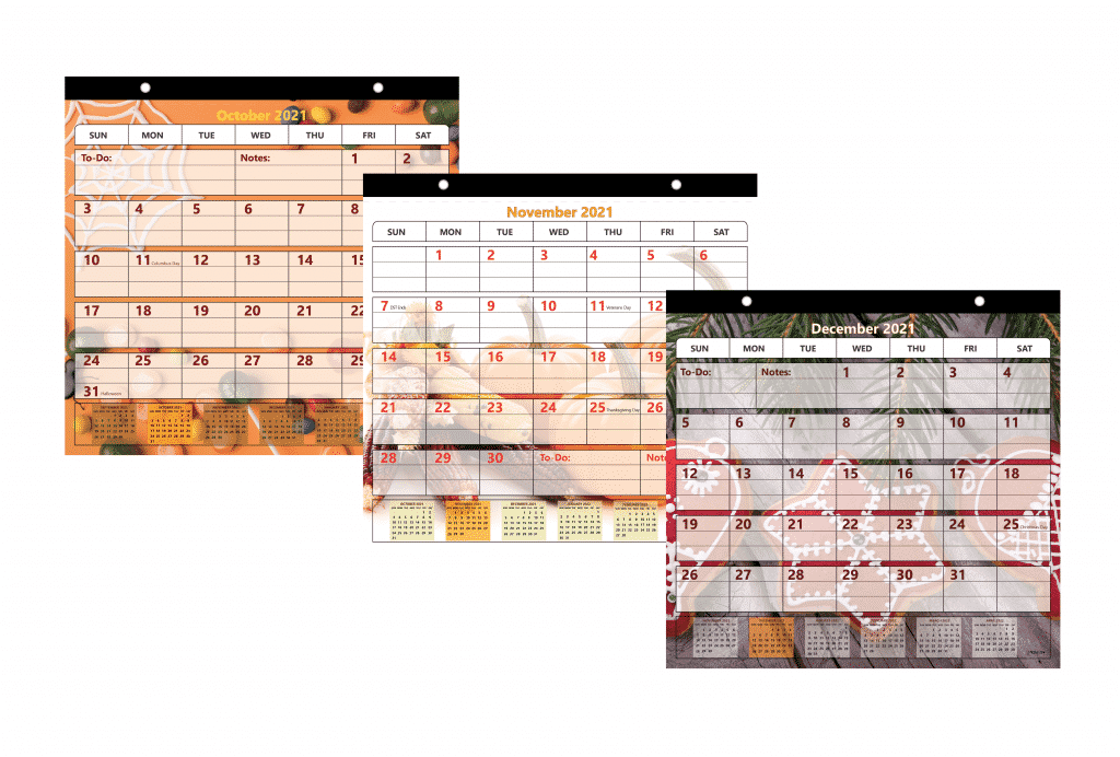 holiday-themed calendar