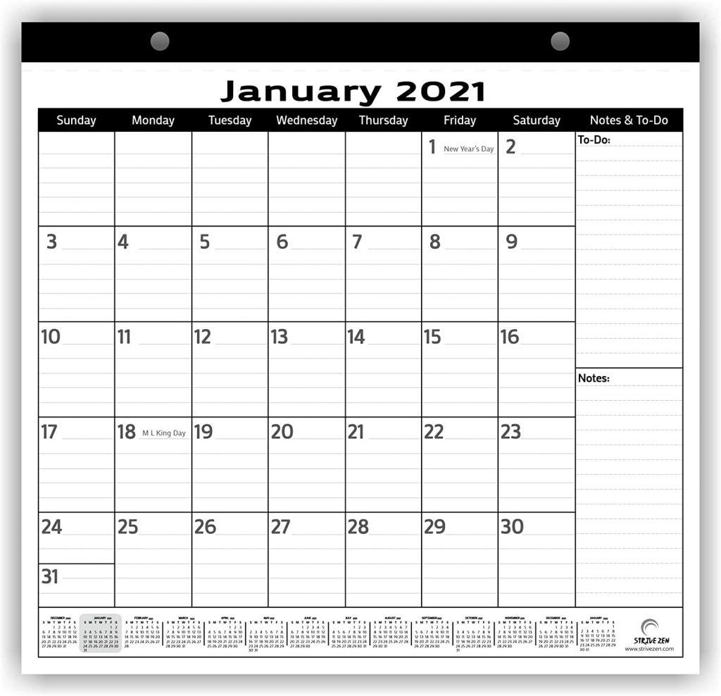 minimalist magnetic calendar