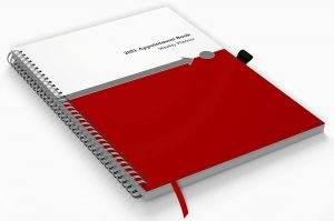 dated weekly and  monthly planner and appointment book from 2021 to 2022