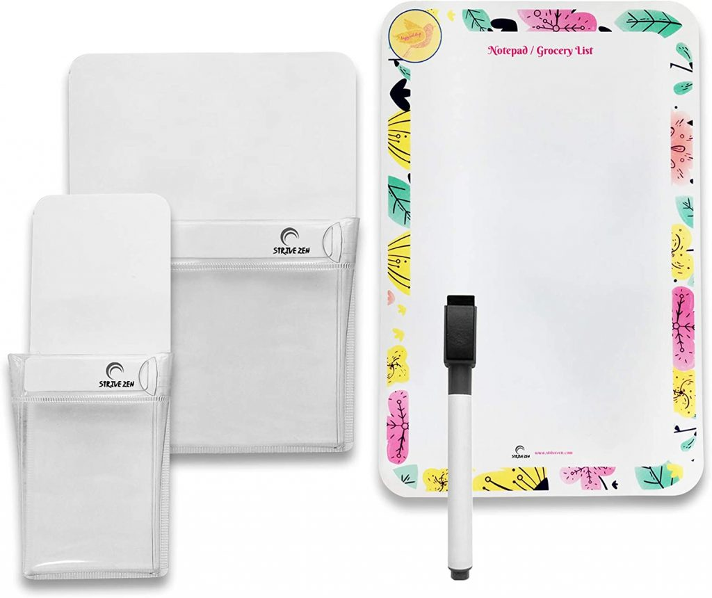 magnetic pen holder and magnetic dry erase notepad and pen