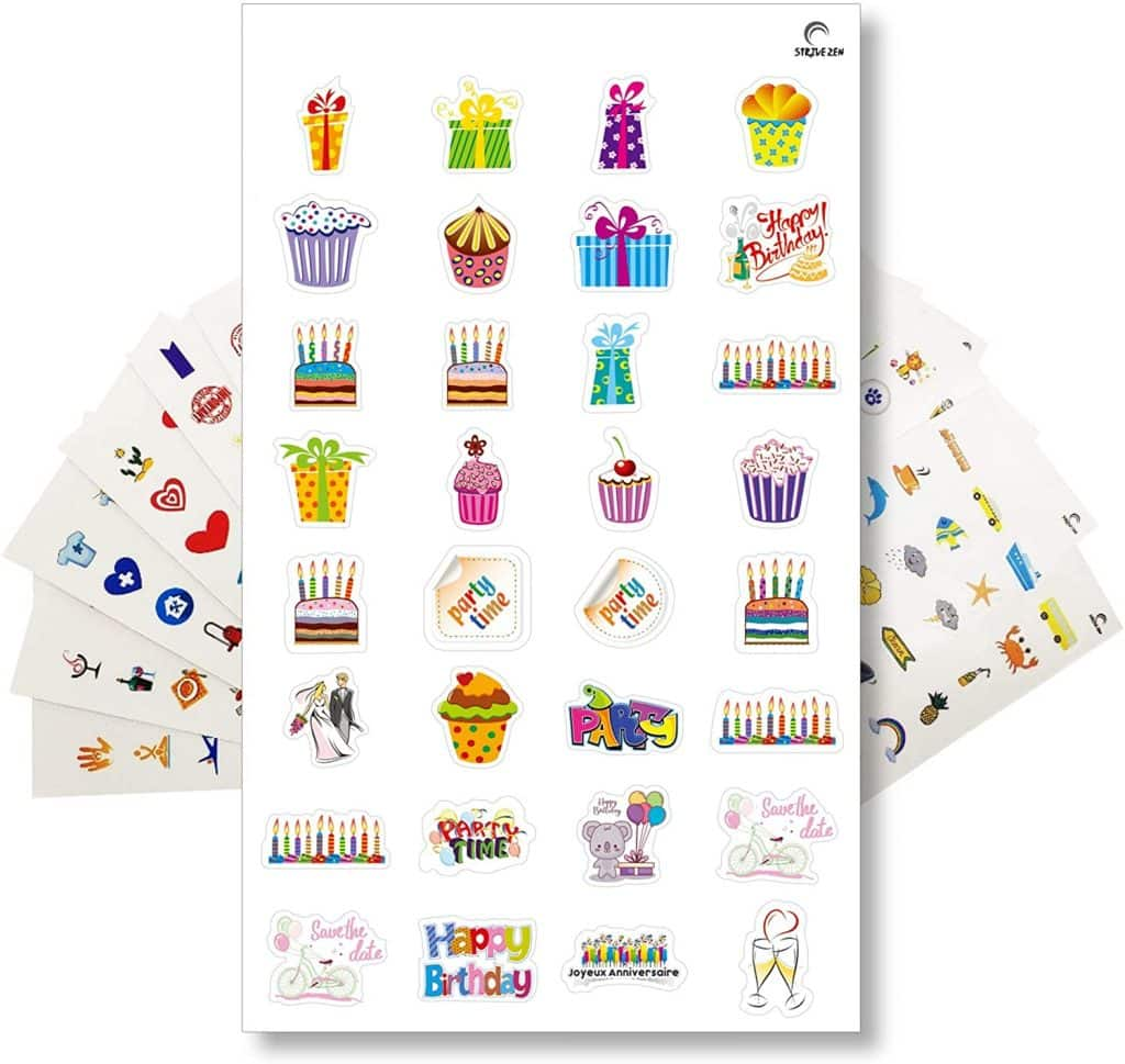 stickers pack for planner