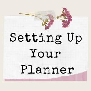 planner set-up