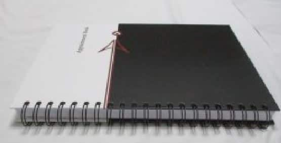 how the undated appointment book looks from the side