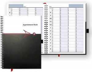 undated appointment book and planner with 15 minute increments