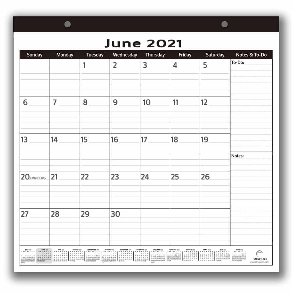 buy the minimalist magnetic calendar that runs from 2021 to 2022