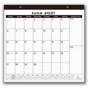 minimalist magnetic calendar 2021-2022 10x10 inches