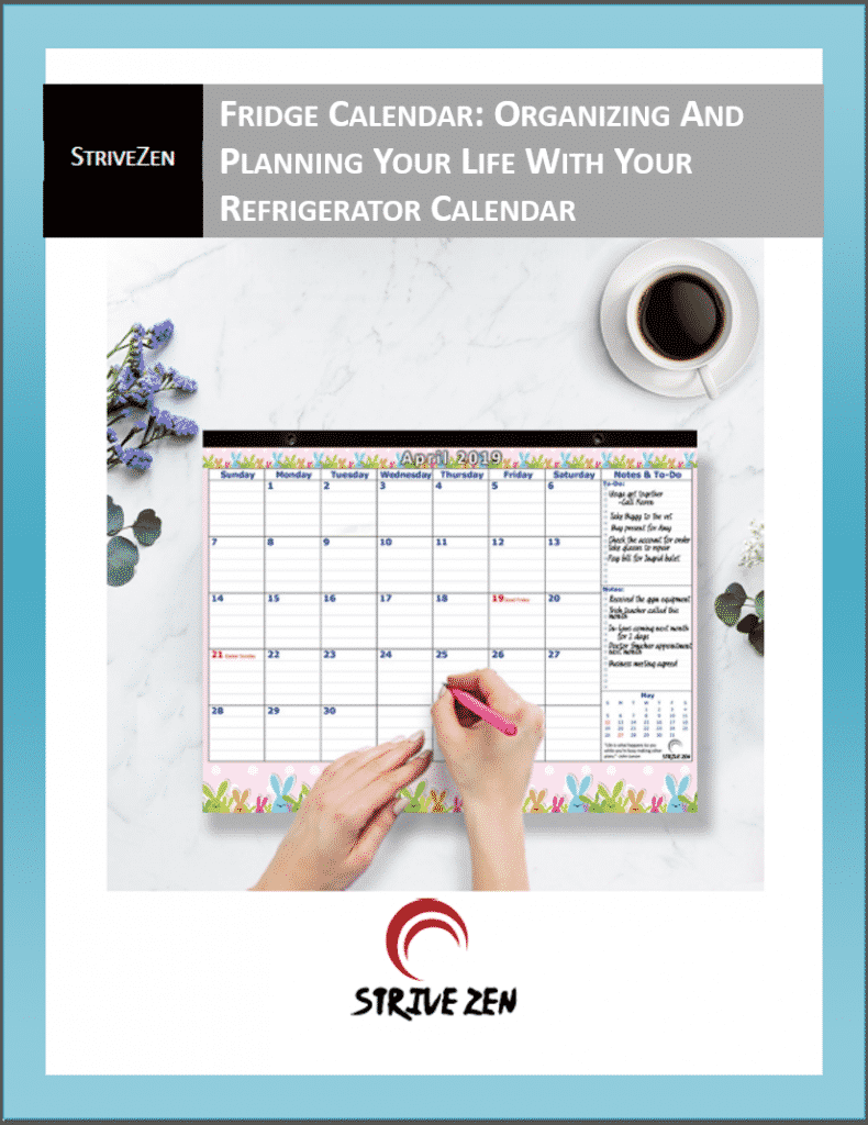 organizing and planning your life using a fridge calendar